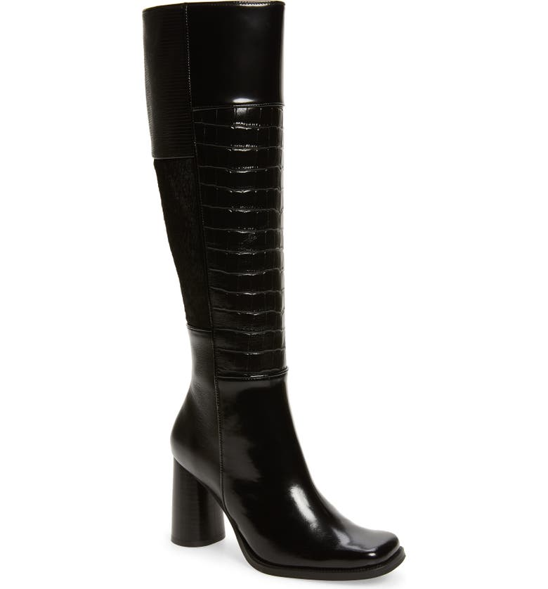 JEFFREY CAMPBELL Hunted Square Toe Boot, Main, color, 007