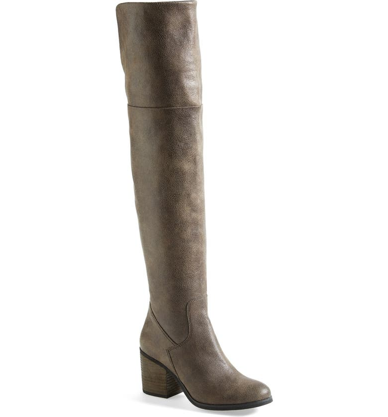 HINGE Canton Over the Knee Boot, Main, color, BROWN FAUX LEATHER