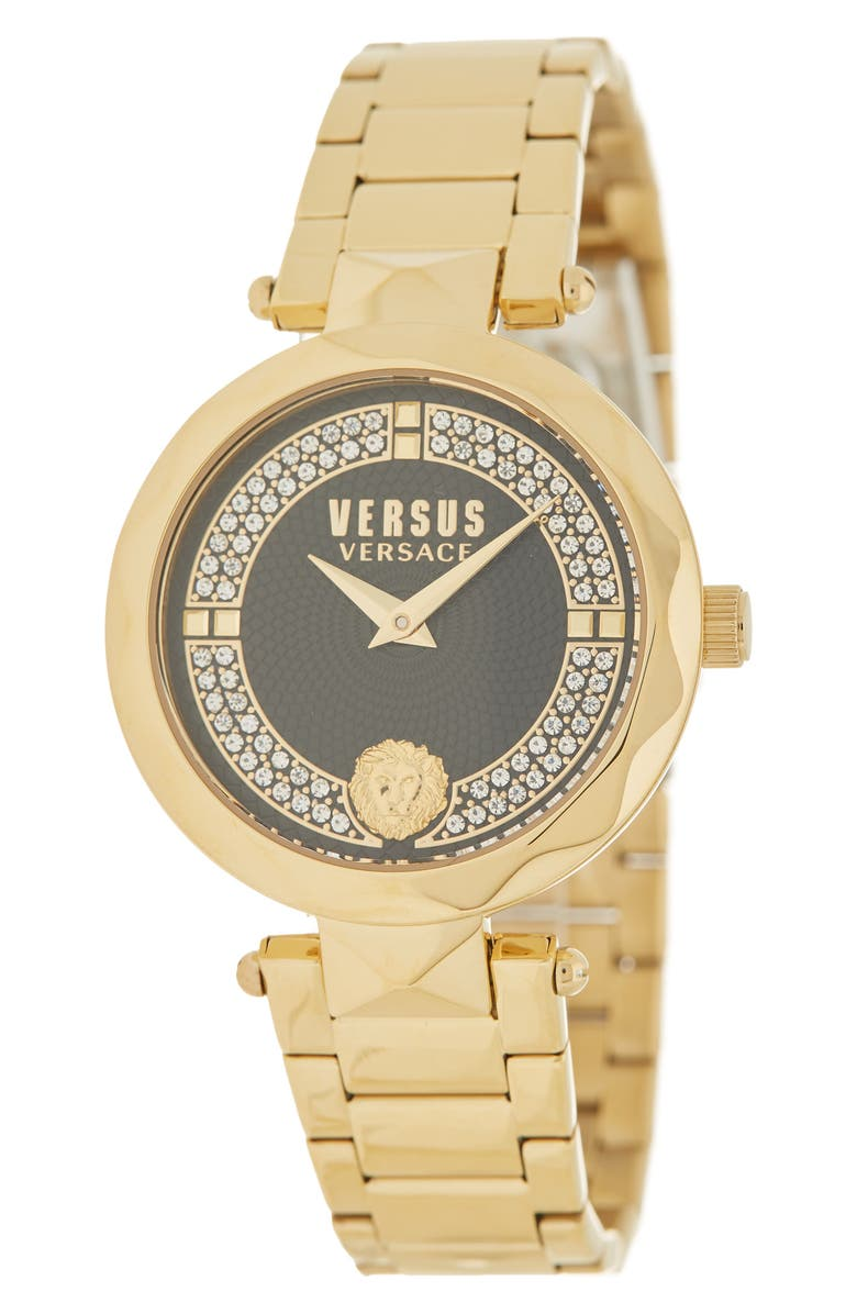 VERSACE Women's Gold IP Stainless Steel Covent Garden Watch, 36mm, Main, color, GOLD