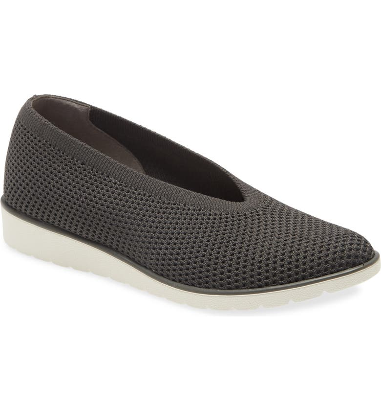 EILEEN FISHER Heaven Mesh Flat, Main, color, GRAPHITE STRETCH FABRIC