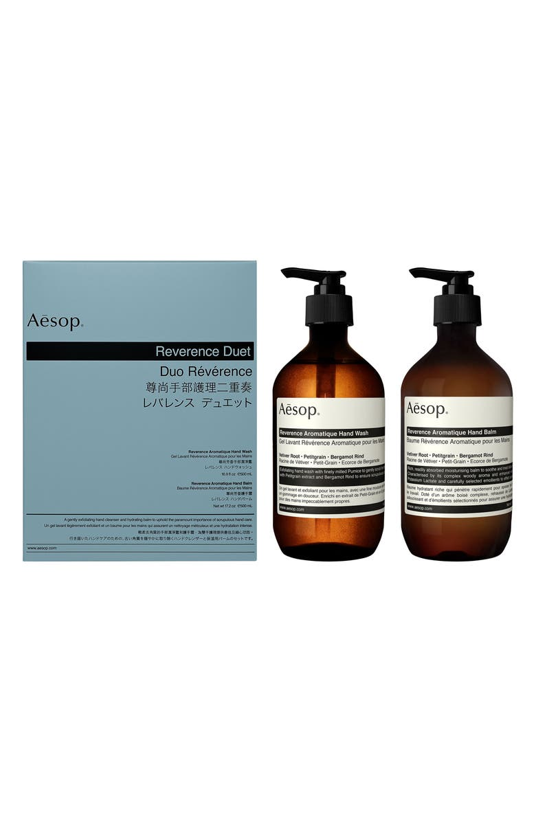 AESOP Reverence Hand Wash & Hand Balm Duet, Main, color, 960