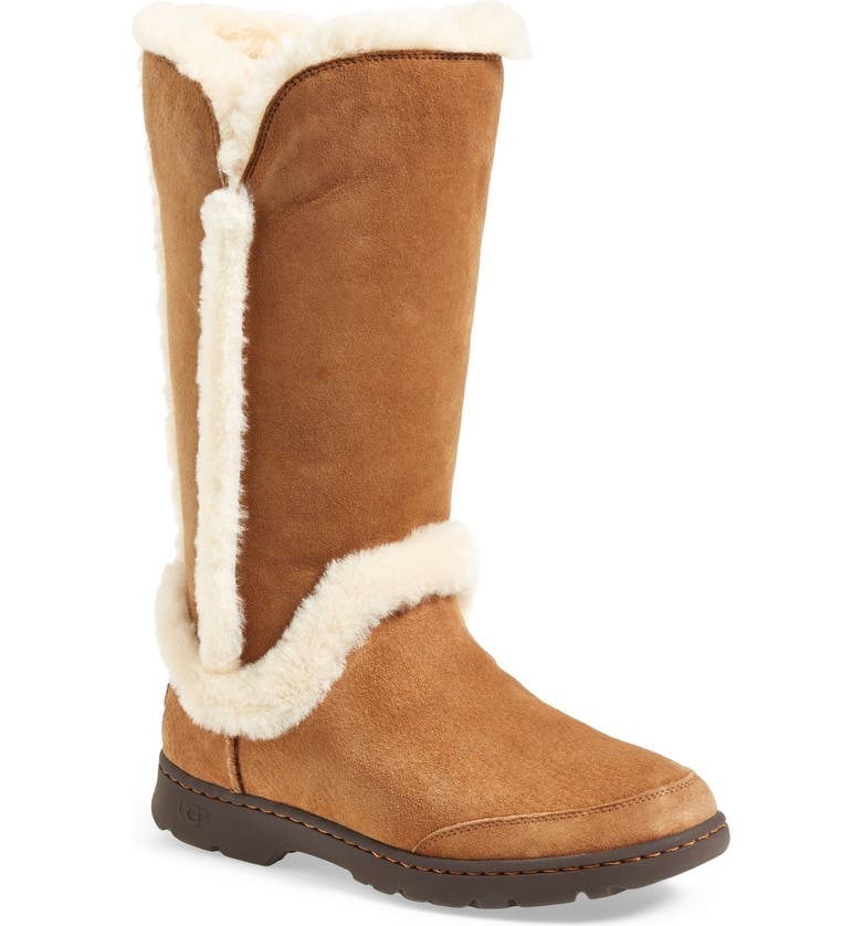 UGG<SUP>®</SUP> Katia Waterproof Tall Boot, Main, color, CHESTNUT SUEDE