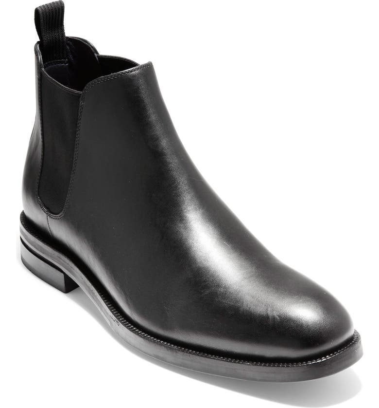 COLE HAAN Wakefield Grand Waterproof Chelsea Boot, Main, color, 001