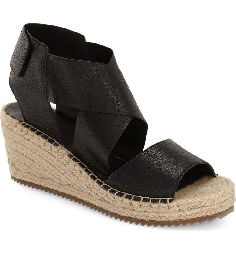 EILEEN FISHER 'Willow' Espadrille Wedge Sandal, Main, color, Black