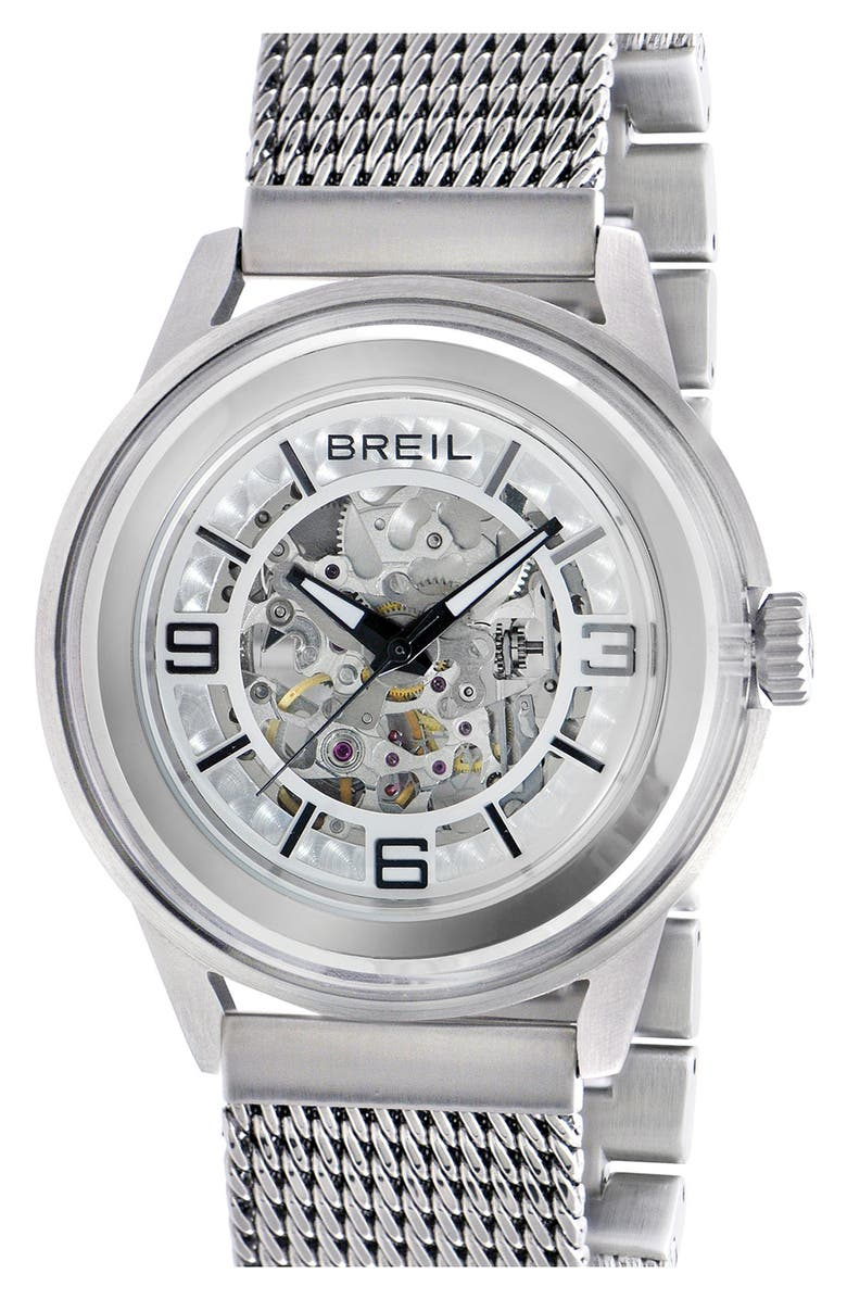 BREIL 'Orchestra' Round Automatic Watch, 45mm, Main, color, 040