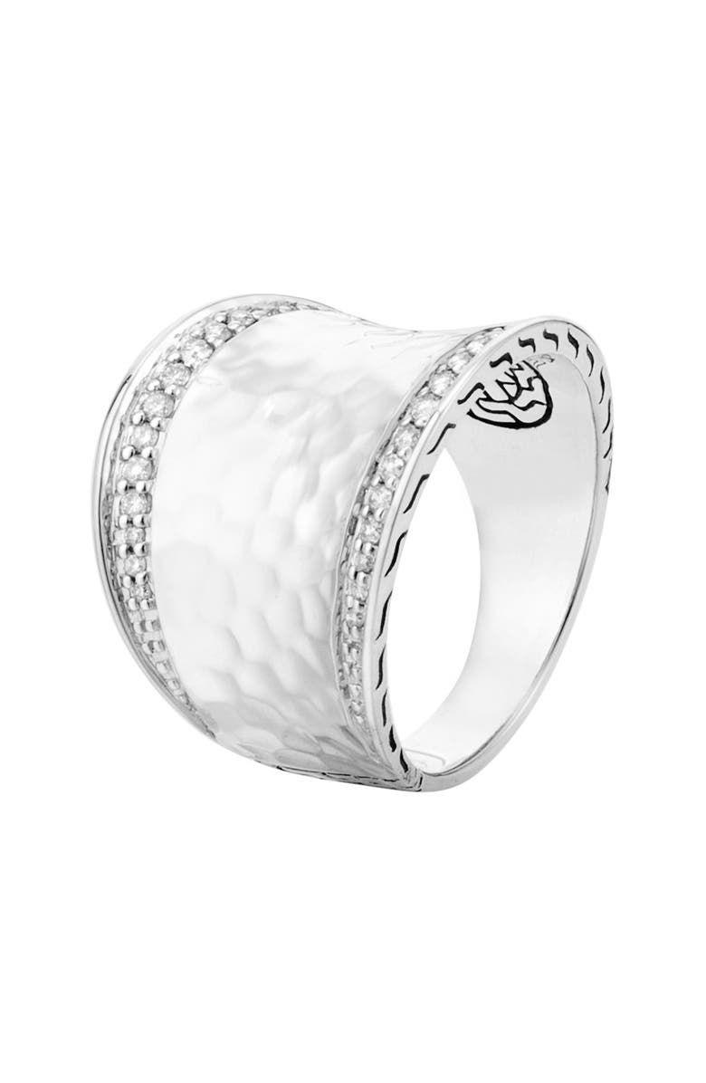 JOHN HARDY 'Classic Chain' Small Saddle Ring, Main, color, SILVER