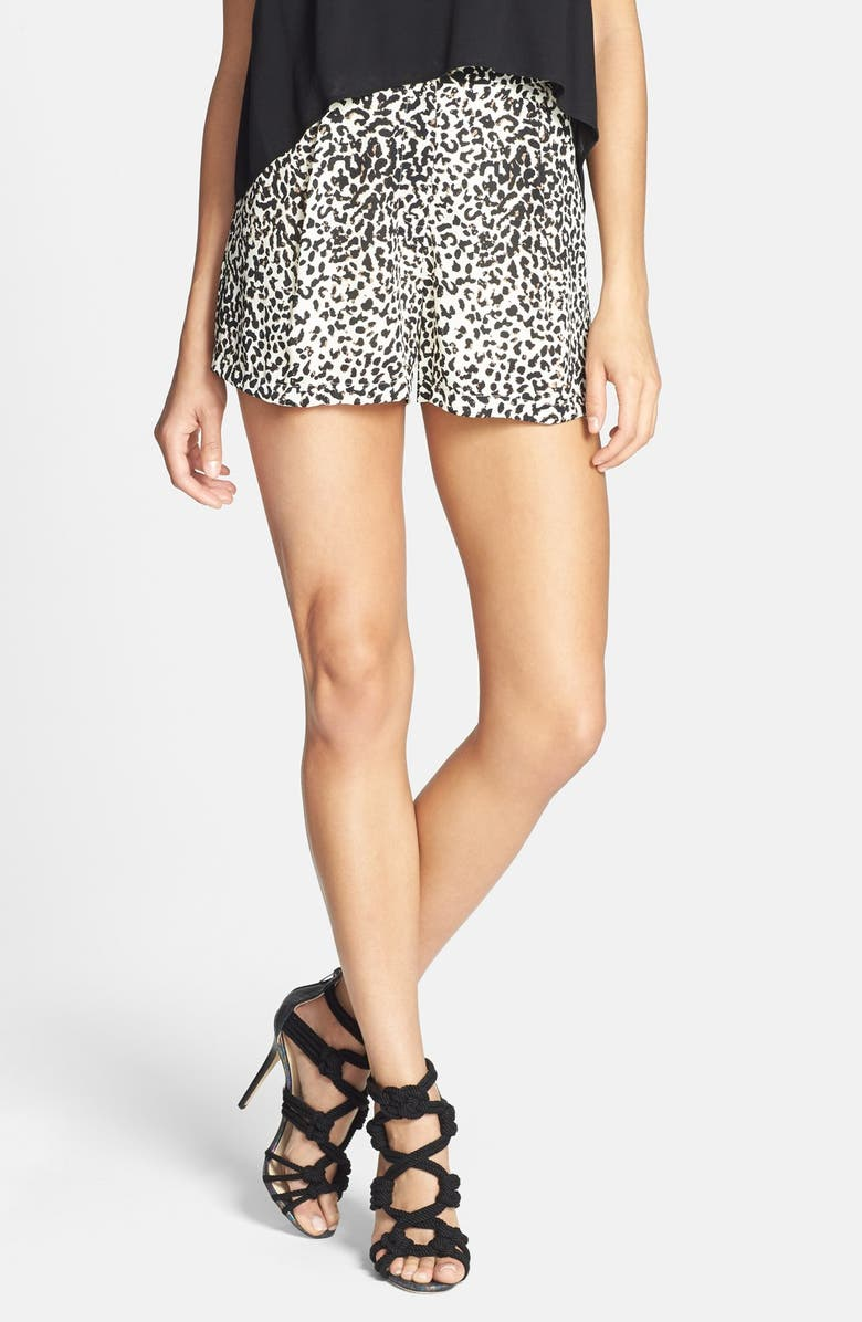 ASTR THE LABEL ASTR Animal Print Shorts, Main, color, 200