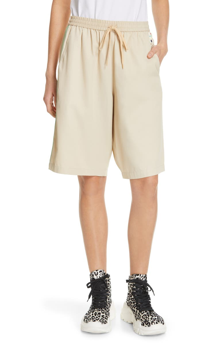 TIBI Drapey Tech Suiting Shorts, Main, color, 250