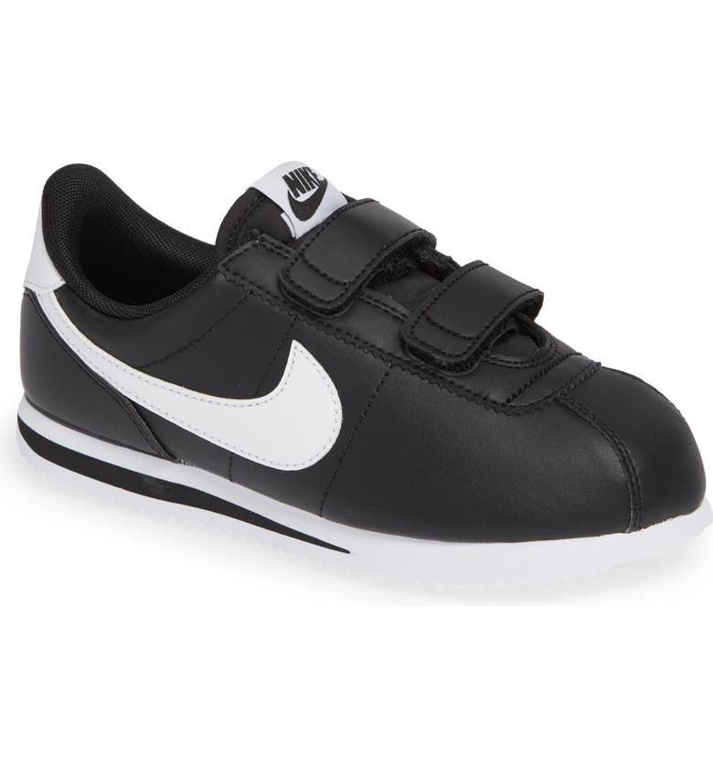 NIKE Cortez Basic SL Sneaker, Main, color, BLACK/ WHITE