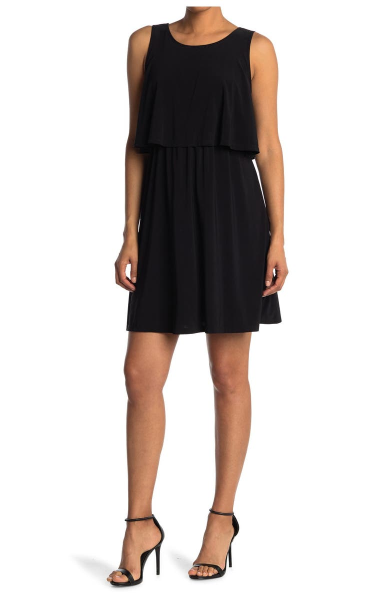 TASH AND SOPHIE Popover Layered Tank Dress, Main, color, 001