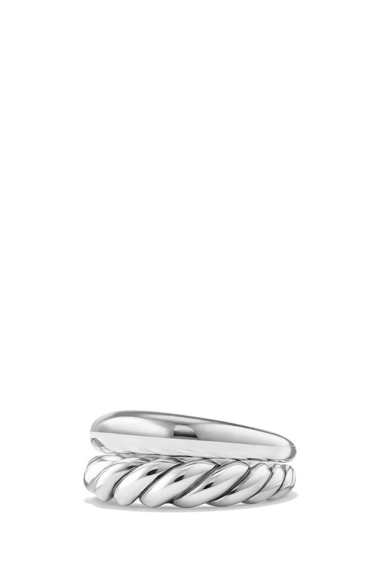 DAVID YURMAN Pure Form Sterling Silver Stacking Rings, Main, color, Silver