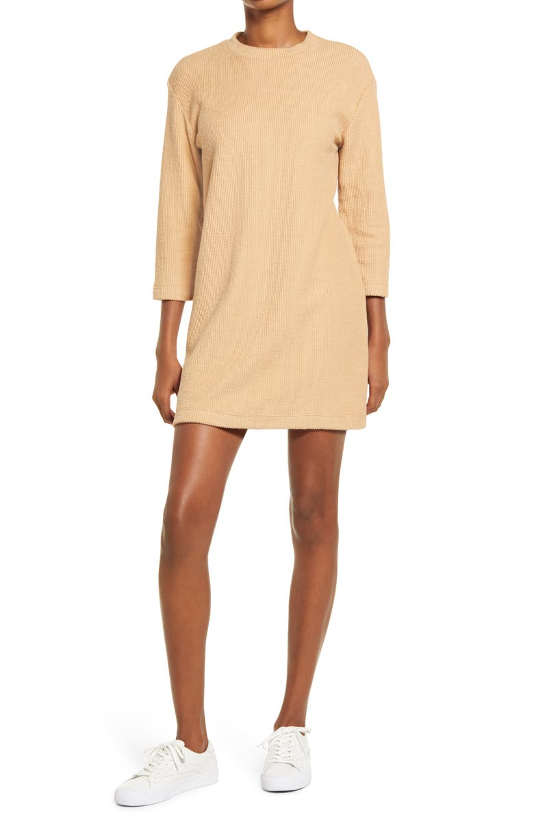 REFORMATION Channing Sweater Dress, Main, color, BUFF