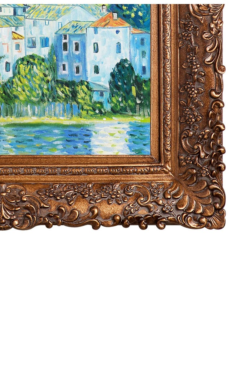 OVERSTOCK ART Church in Cassone (Landscape with Cypress) - Framed Oil Reproduction of an Original Painting by Gustav Klimt, Main, color, MULTI