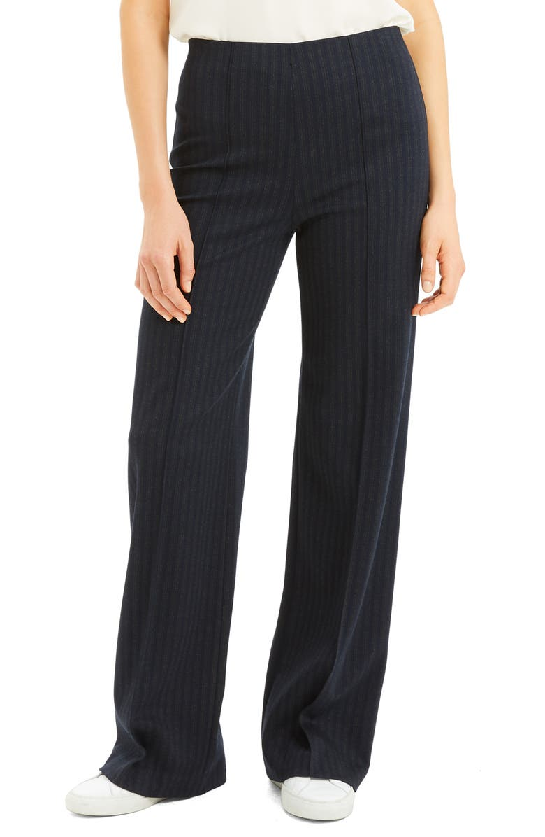 THEORY Stripe Seamed Wide Leg Trousers, Main, color, 400