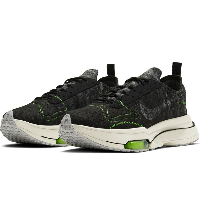 NIKE Air Zoom-Type Sneaker, Main, color, BLACK/ ELECTRIC GREEN/ BONE