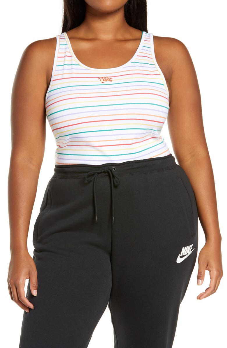 NIKE Sportswear Retro Stripe Bodysuit, Main, color, 100