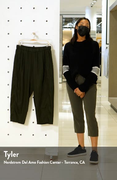 Lantern Crop Organic Linen Pants, sales video thumbnail
