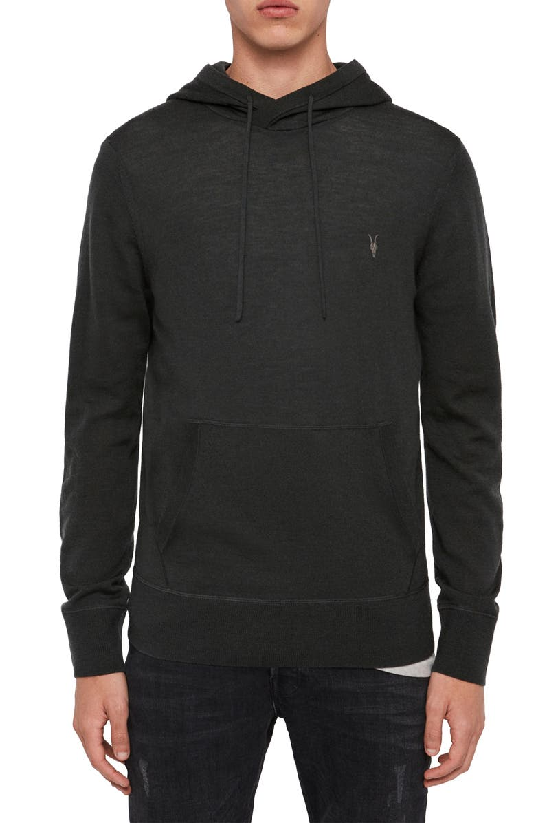 ALLSAINTS Mode Merino Wool Hoodie, Main, color, 001