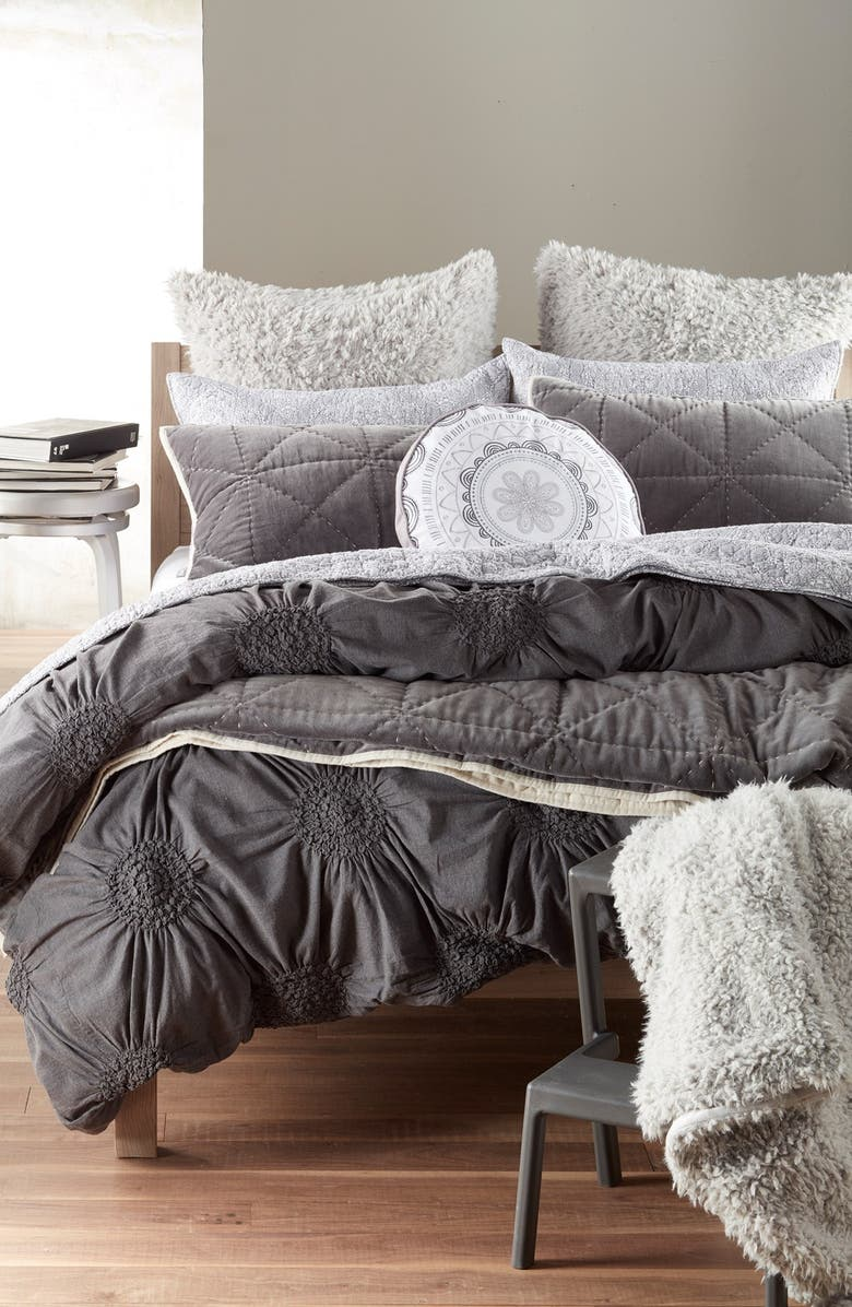 NORDSTROM at Home Faux Fur Throw, Main, color, 020