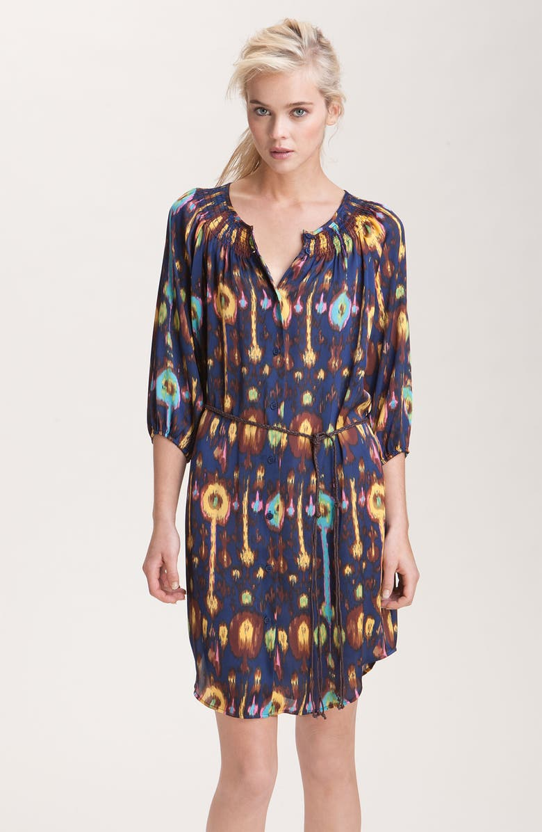 COLLECTIVE CONCEPTS Print Shirtdress, Main, color, 418