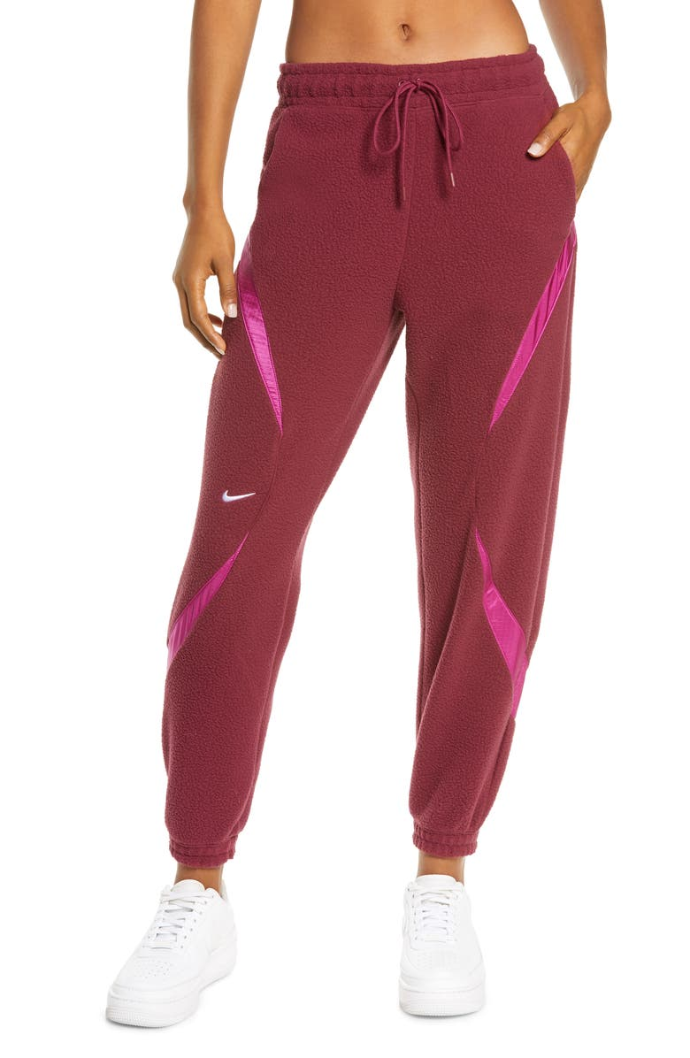 NIKE Sportswear Archive Remix Joggers, Main, color, DARK BEETROOT/ CACTUS FLOWER