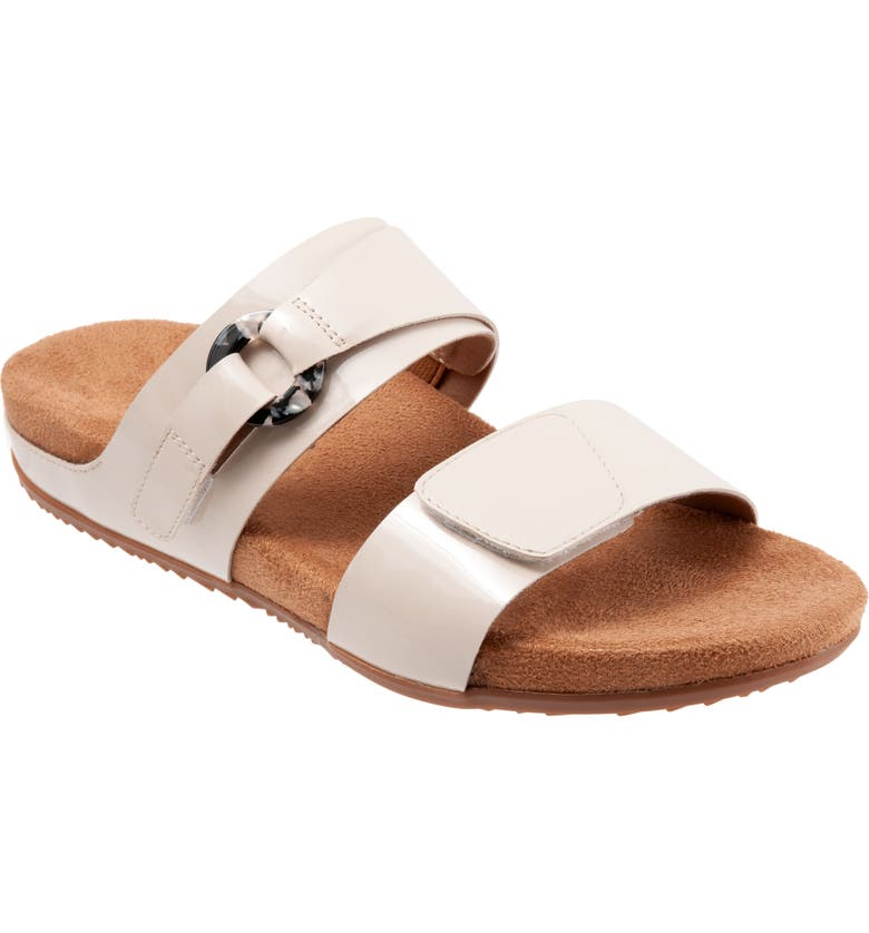 SOFTWALK<SUP>®</SUP> Barcelona Sandal, Main, color, IVORY FAUX PATENT LEATHER