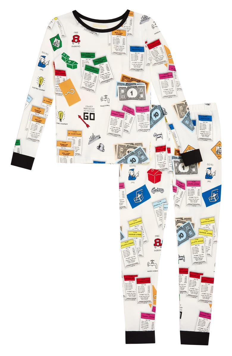 BEDHEAD PAJAMAS Kids' Monopoly Fitted Two-Piece Pajamas, Main, color, LETS PLAY MONOPOLY