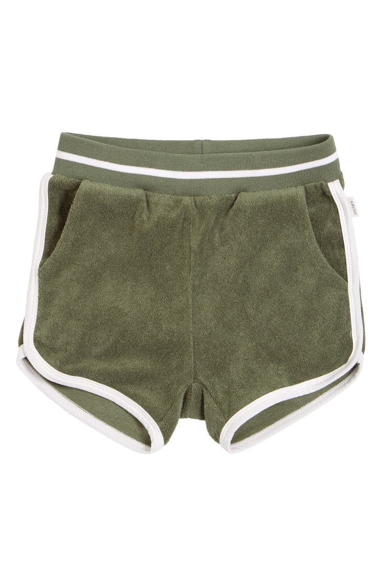 MILES Kids' French Terry Knit Shorts, Main, color, KHAKI