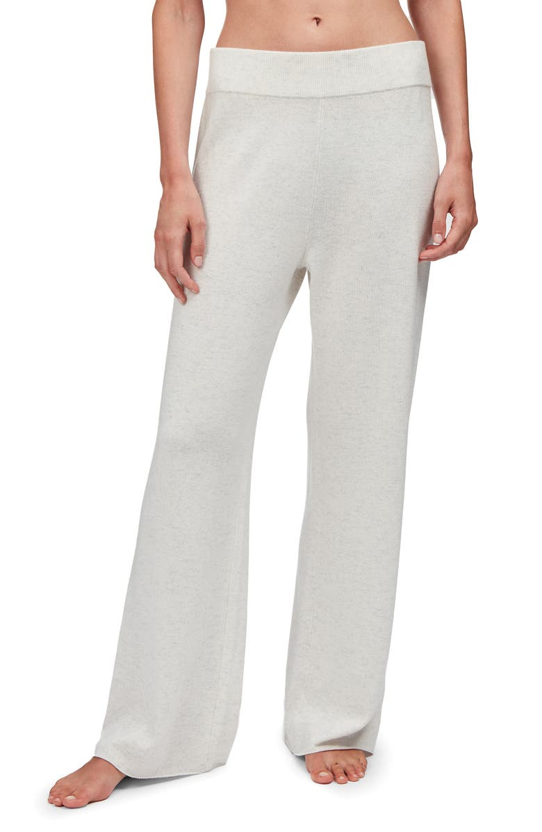 THE WHITE COMPANY Wide Leg Lounge Pants, Main, color, 020