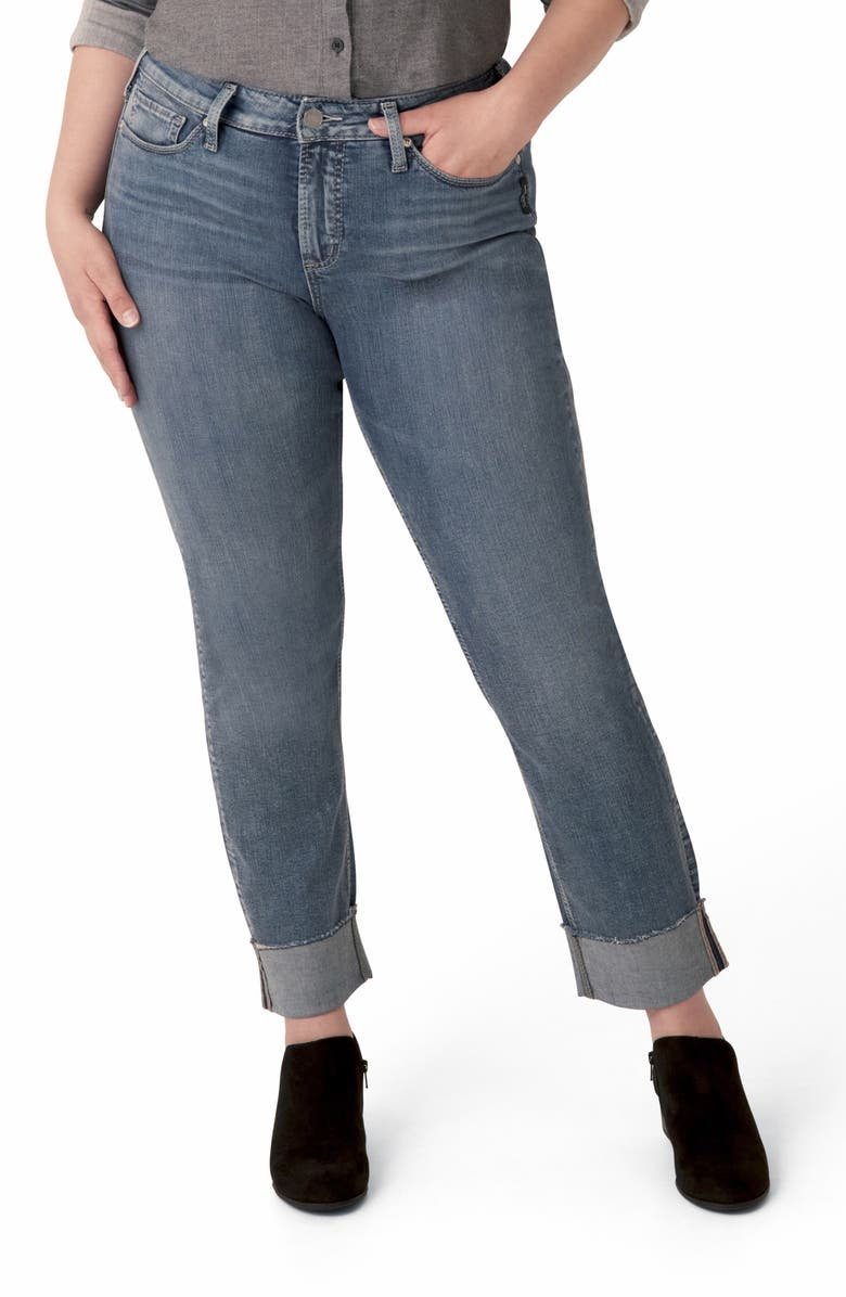 SILVER JEANS CO. Avery Straight Leg Jeans, Main, color, INDIGO