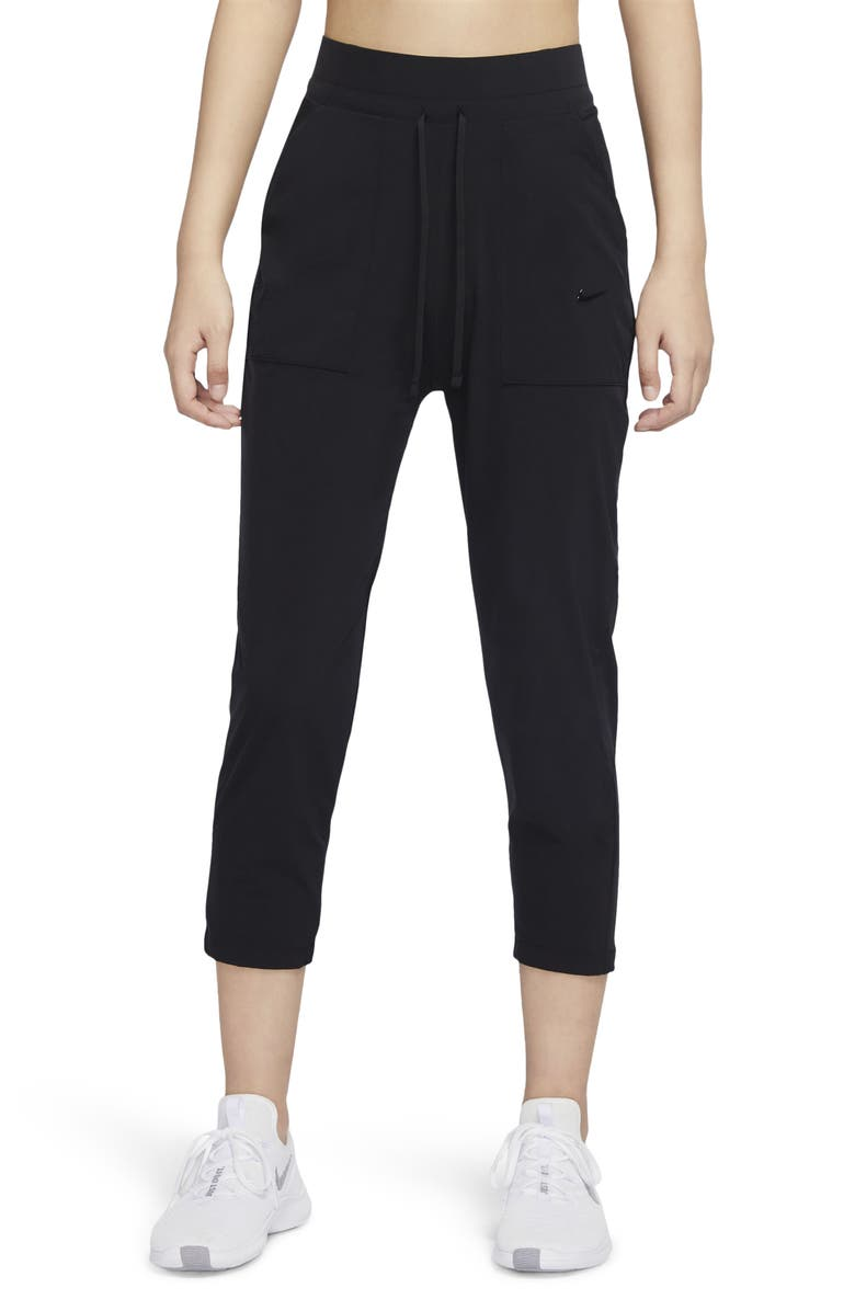 NIKE Bliss Luxe 7/8 Dri-FIT Women's Training Pants, Main, color, BLACK/ CLEAR