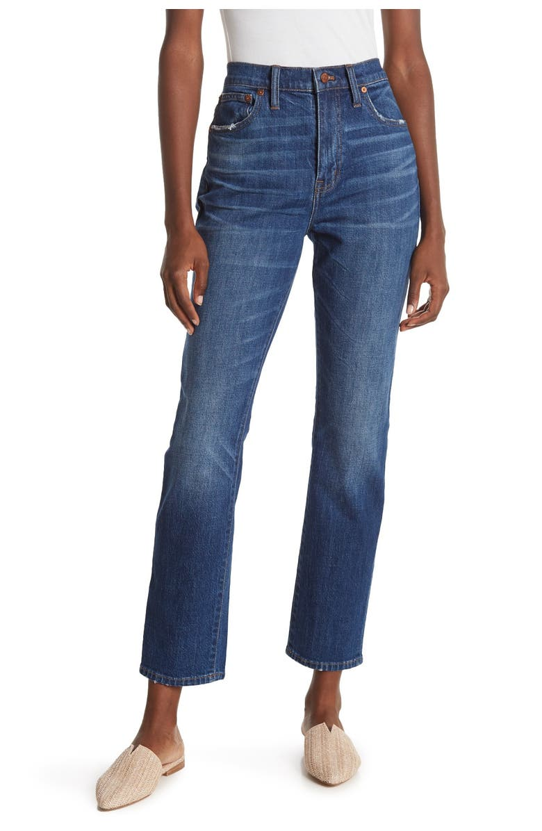 MADEWELL The High Rise Slim Boyjeans, Main, color, BUCKLEY WASH