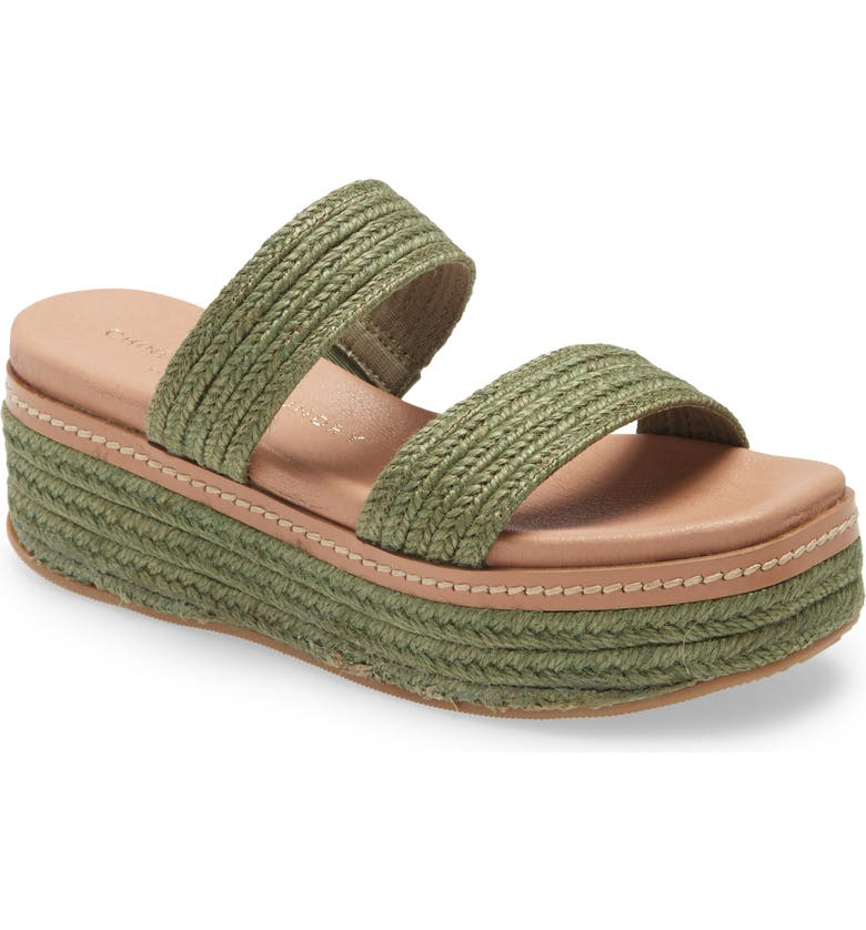 CHINESE LAUNDRY Zion Espadrille Wedge Sandal, Main, color, GREEN FABRIC