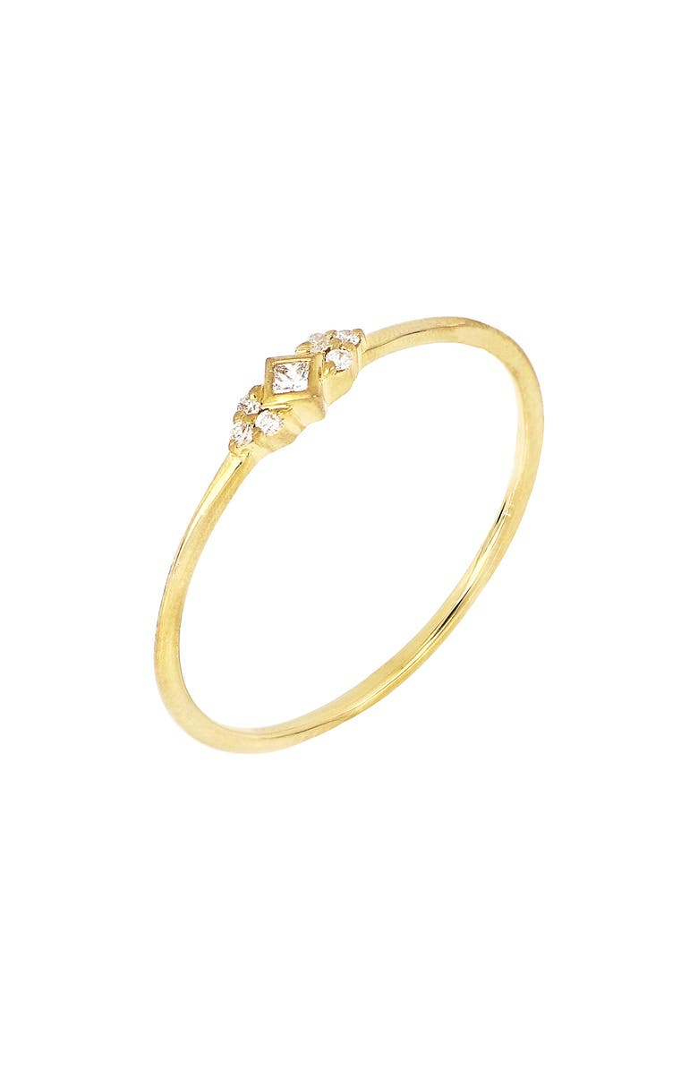 BONY LEVY Getty Diamond Princess Stacking Ring, Main, color, YELLOW GOLD
