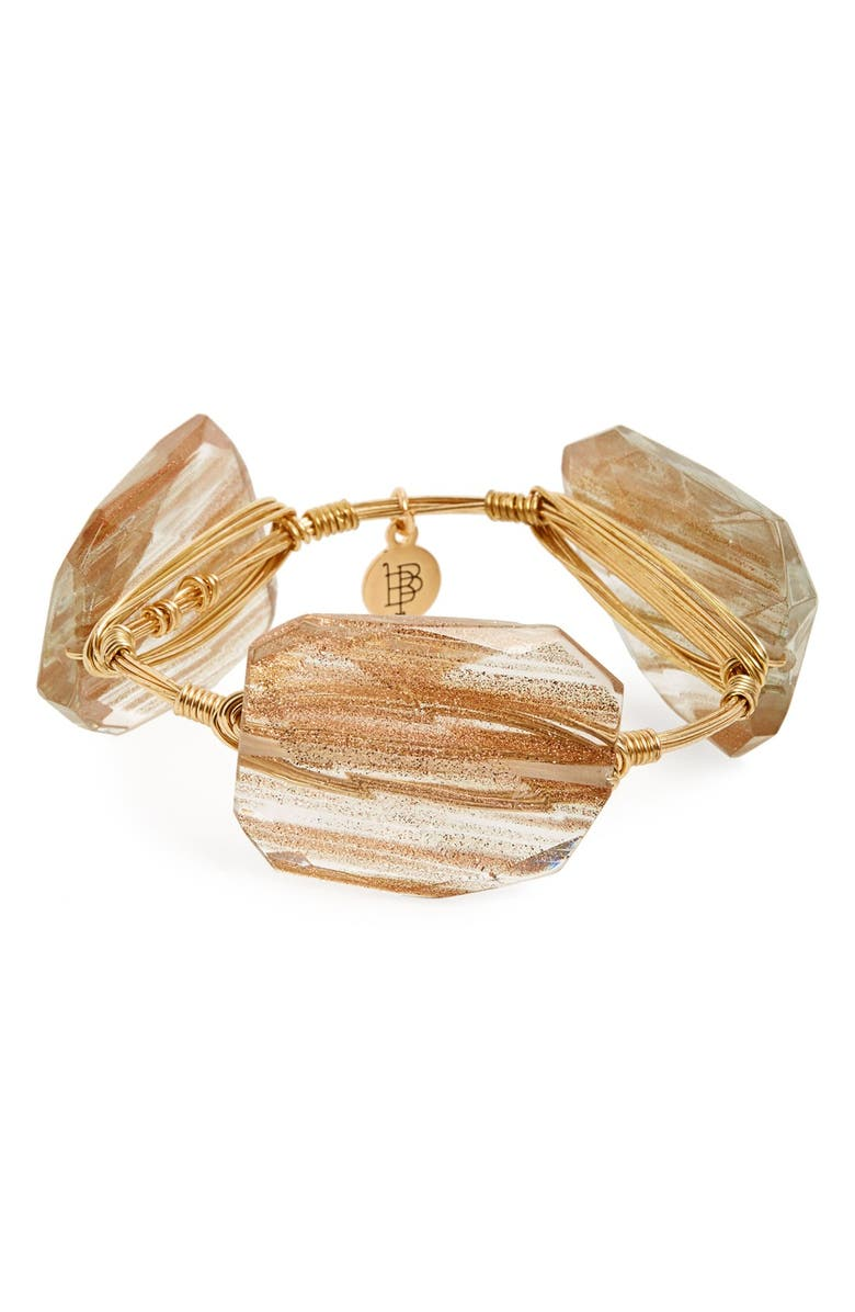BOURBON AND BOWETIES Rutilated Quartz Bracelet, Main, color, 710
