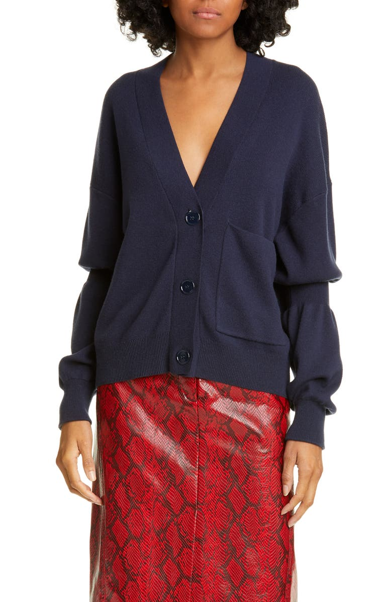 TIBI Double Cuff Cardigan, Main, color, 402