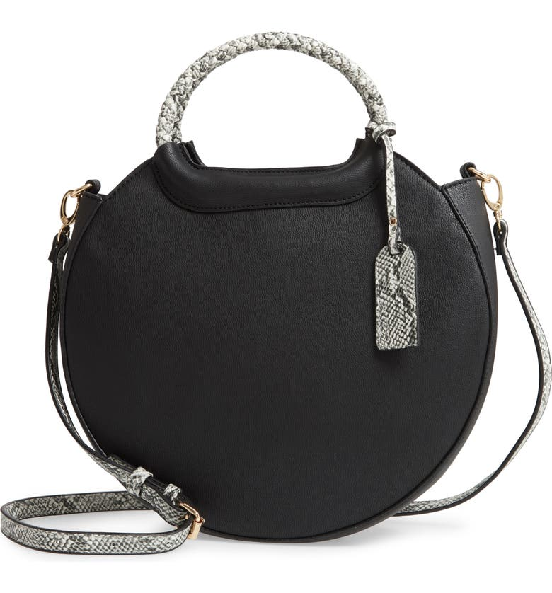 SOLE SOCIETY Hudson Faux Leather Canteen Tote, Main, color, 001