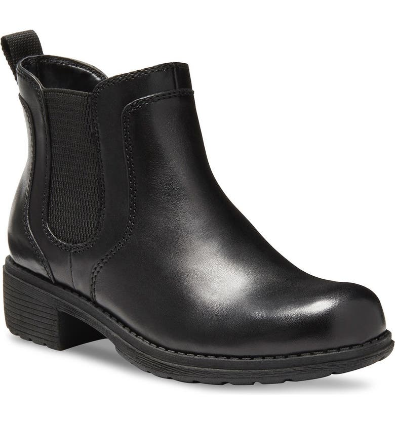 EASTLAND Double Up Leather Chelsea Boot, Main, color, BLACK
