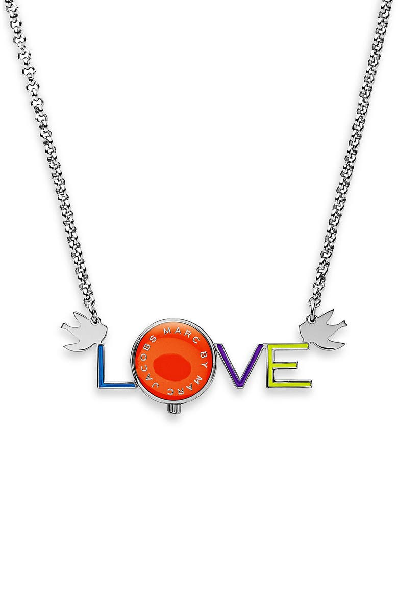 MARC BY MARC JACOBS 'Love' Watch Necklace, Main, color, 040
