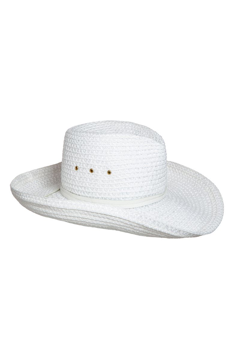 ERIC JAVITS Squishee<sup>®</sup> Western Hat, Main, color, WHITE