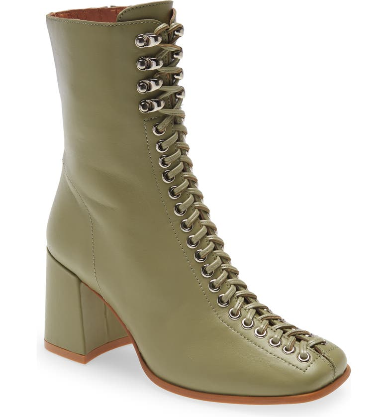 JEFFREY CAMPBELL Belmond Bootie, Main, color, GREEN LEATHER