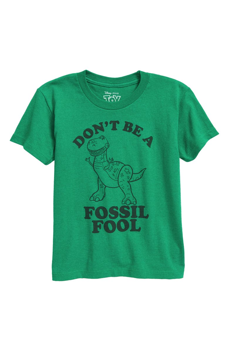 JEM x Toy Story Kids' Don't Be a Fossil Graphic Tee, Main, color, KELLY HEATHER