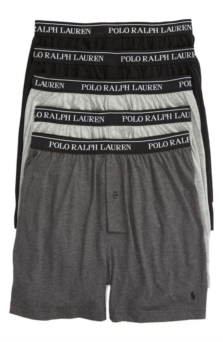 POLO RALPH LAUREN 5-Pack Cotton Boxers, Main, color, 020