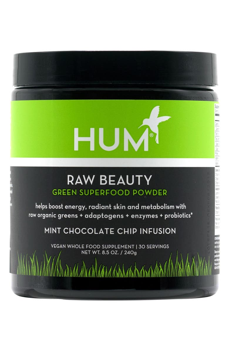 HUM NUTRITION Raw Beauty Skin & Energy Green Superfood Powder, Main, color, 000