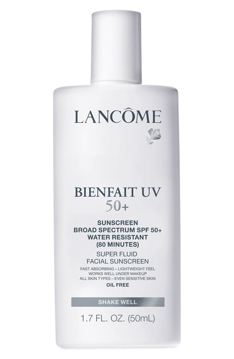 LANCÔME Bienfait UV Super Fluid Facial Sunscreen SPF 50+, Main, color, 000