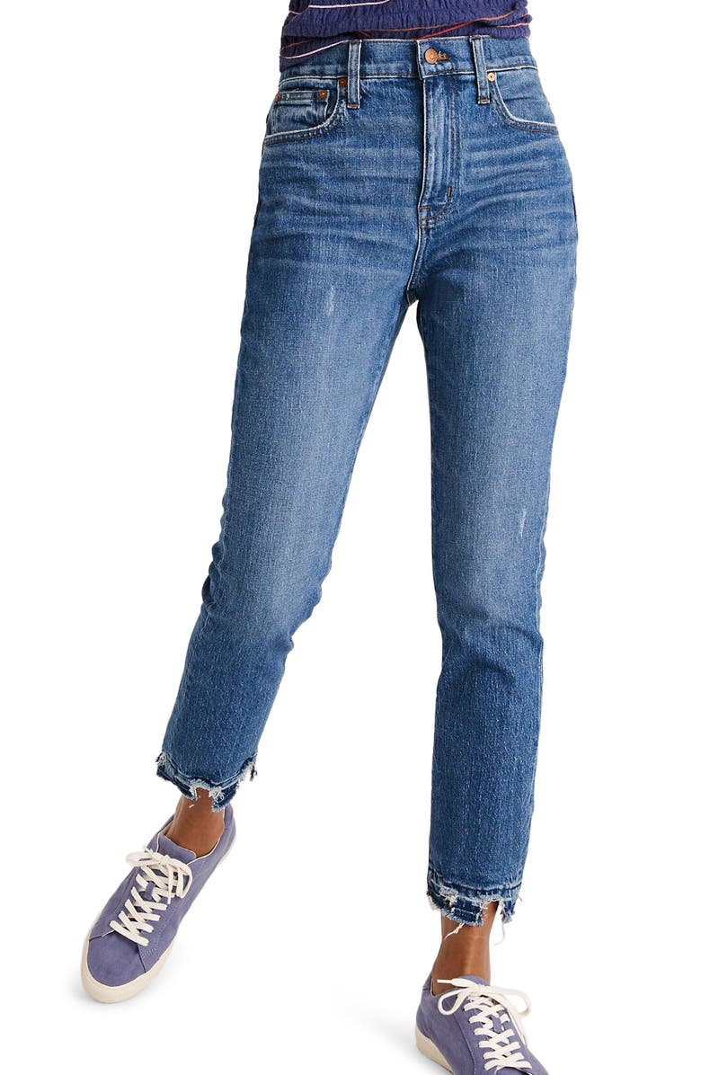 MADEWELL The High Rise Slim Boy Jeans, Main, color, 409