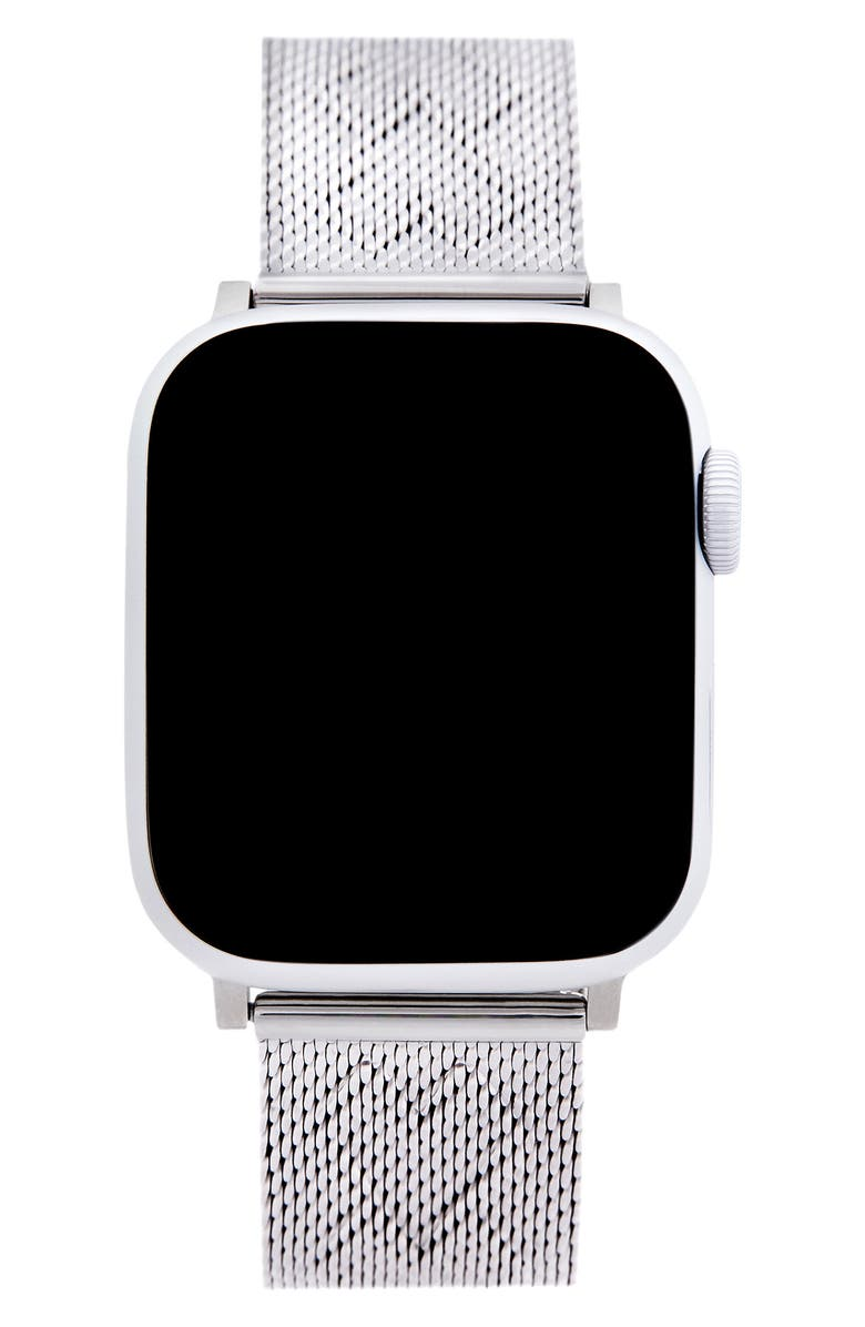 REBECCA MINKOFF Heart Apple Watch<sup>®</sup> Bracelet, Main, color, SILVER