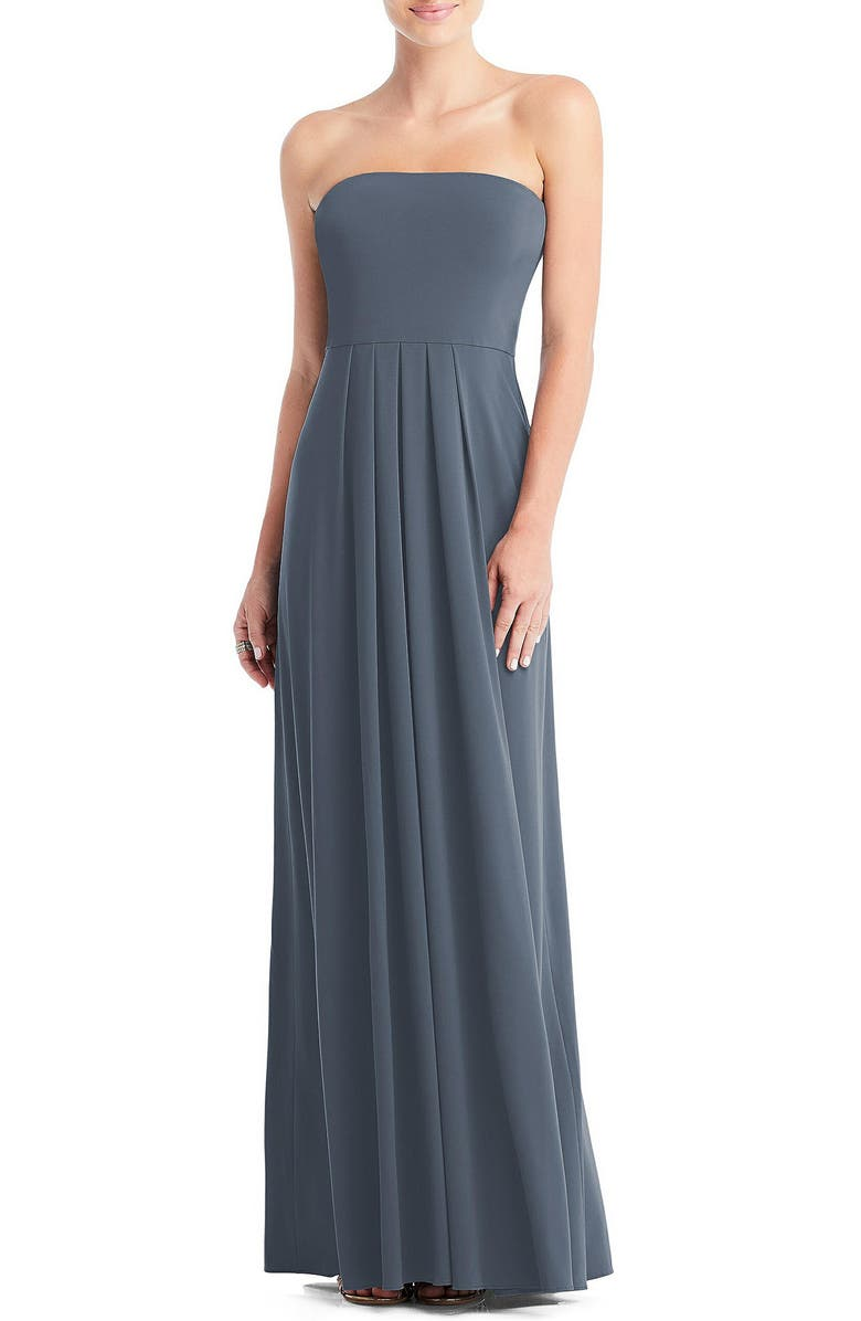 DESSY COLLECTION Multi-Way Loop A-Line Gown, Main, color, SILVERSTONE