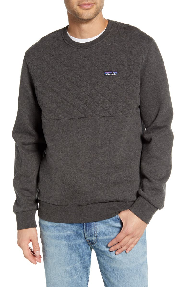 PATAGONIA Quilted Sweatshirt, Main, color, FORGE GREY