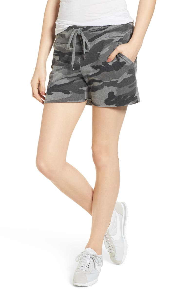 SPLENDID Camo Shorts, Main, color, OLIVE BRANCH